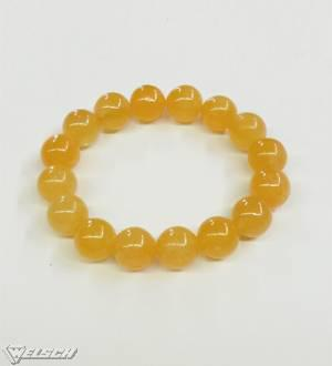 Armband Calcit orange Kugeln 12 mm